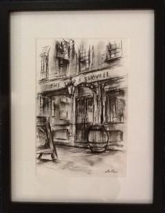 Marc Gooderham The Ship and Shovell, 2018 Original Sketch on Paper Framed Size 17 x 13 in Framed Size 43.2 x 33 cm