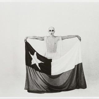 Francsico Copello El Mimo Y La Bandera The Mime And The Flag 1975 Silver Gelatin Print 24 X 30 Cm