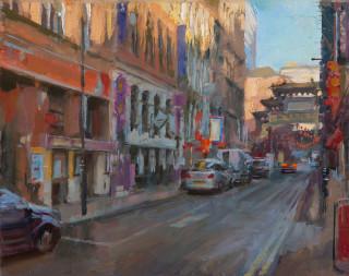 Rob Pointon AROI RBSA MAFA, Shaded Chinatown
