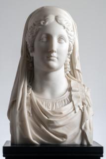 Gaetano Monti di Ravenna, HERM OF A VESTAL VIRGIN, 1838