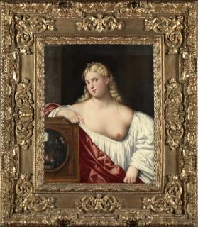 Bernardino Licinio, Portrait of a courtesan with mirror (Allegory of Vanity), 1535-40