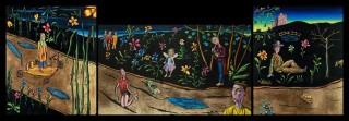 Carlos Cortes, In The Night Garden (Triptych), 2012