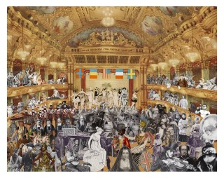 Sir Peter Blake, Marcel Duchamp's World Tour - New Year's Eve, 2015