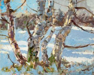 """<span class=""""artist""""><strong>Allan MacDonald</strong></span>, <span class=""""title""""><em>Birches Belladrum</em>, 2020</span>"""