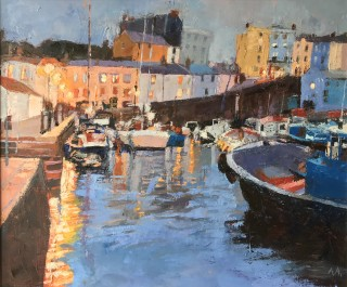 Anne Aspinall, Tenby Harbour, Evening