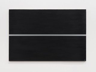 Silver line on a black surface, 1964‒1997  Oil and acrylic on canvas  80 x 120 cm 31 ½ x 47 ¼ inches