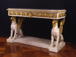 <span class=&#34;title&#34;><em>MARBLE AND GILT BRONZE CONSOLE TABLE</em></span>