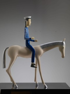 <span class=&#34;artist&#34;><strong>Yu Fan &#20110;&#20961;</strong></span>, <span class=&#34;title&#34;><em>White Horse and Sailor No. 3</em>, 2010</span>