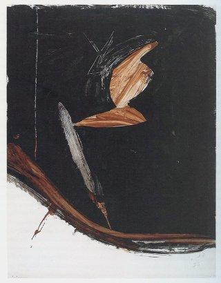 "<span class=""artist""><strong>David Ireland</strong></span>, <span class=""title""><em>Figure With Harmless Torpedo</em>, 1973</span>"