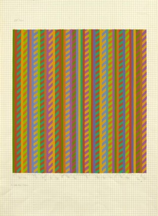 "<span class=""artist""><strong>Bridget Riley</strong></span>, <span class=""title""><em>Untitled [towards 'Broken Gaze']</em>, 1986</span>"
