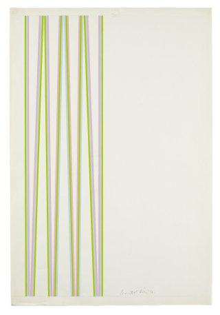 <span class=&#34;artist&#34;><strong>Bridget Riley</strong></span>, <span class=&#34;title&#34;><em>Series 5a. Pale blue, magenta and green</em>, 1970</span>
