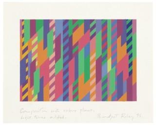 <span class=&#34;artist&#34;><strong>Bridget Riley</strong></span>, <span class=&#34;title&#34;><em>Composition with colour planes, light tones added</em>, 1995</span>
