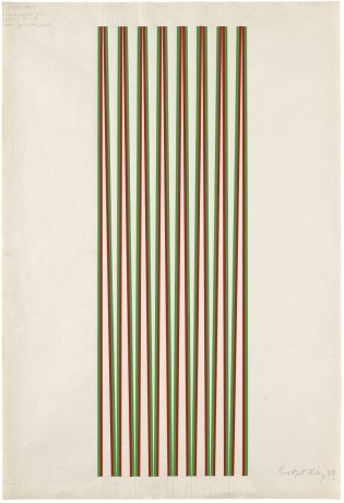 "<span class=""artist""><strong>Bridget Riley</strong></span>, <span class=""title""><em>Untitled [Green and Red]</em>, 1969</span>"