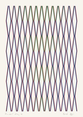 "<span class=""artist""><strong>Bridget Riley</strong></span>, <span class=""title""><em>Splice</em>, 1975</span>"