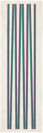 "<span class=""artist""><strong>Bridget Riley</strong></span>, <span class=""title""><em>Untitled [Dark Magenta and Dark Green, Series 4a]</em>, 1968</span>"
