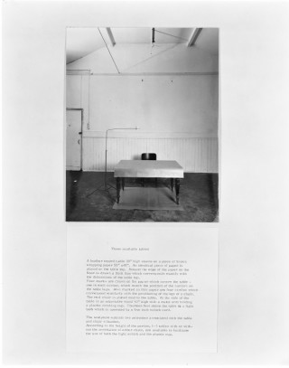 <span class=&#34;artist&#34;><strong>Alison Wilding</strong></span>, <span class=&#34;title&#34;><em>Three available tables</em>, 1975</span>