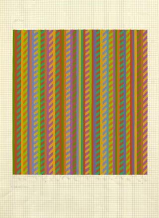 <span class=&#34;artist&#34;><strong>Bridget Riley</strong></span>, <span class=&#34;title&#34;><em>Untitled [towards &#8216;Broken Gaze&#8217;]</em>, 1986</span>