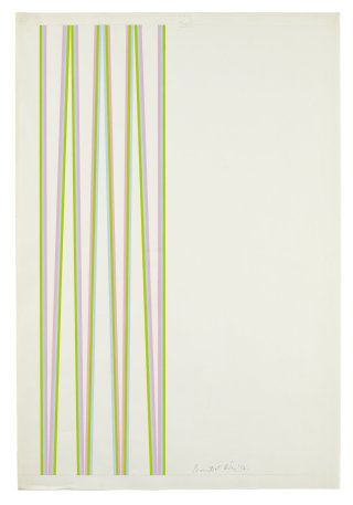 <span class=&#34;artist&#34;><strong>Bridget Riley</strong></span>, <span class=&#34;title&#34;><em>Series 5a. Pale blue, magenta and green</em>, 1970</span>