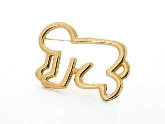 Golden Baby Brooch