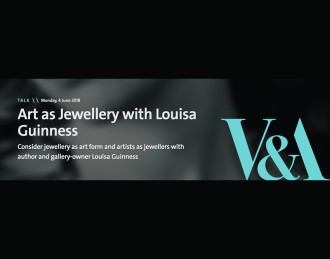 V&A Talk: Art as Jewellery with Louisa Guinness, Consider jewellery as art form and artists as jewellers with author and...