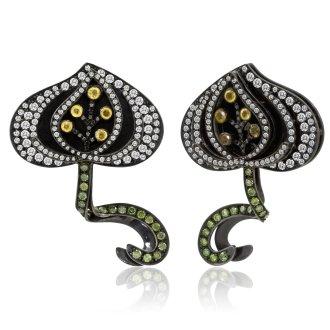 Pomegranate earrings, 2010