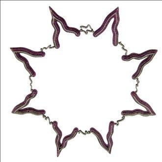 Victoria necklace with zig zag links, 2010
