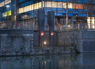 "Roger Hiorns' ""Free Tank"" project in Bristol"
