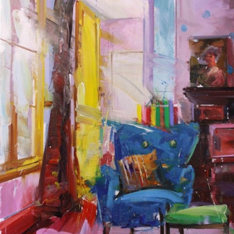 Yellow Door Blue Chair, 2015