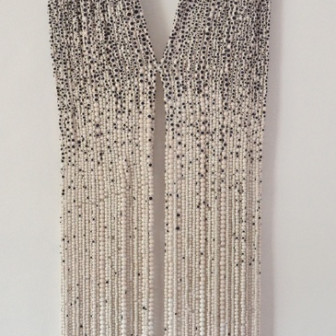 Black and White Shawl, 2012
