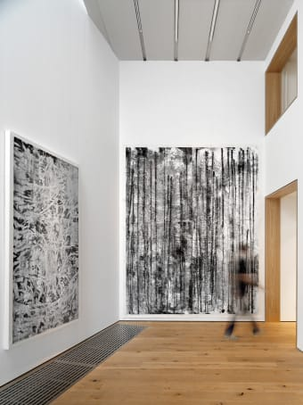 Installation view of Lines with Volume 带有体积的线型, 2011 (plate 27), Ink Studio, Beijing, May 2013.jpg
