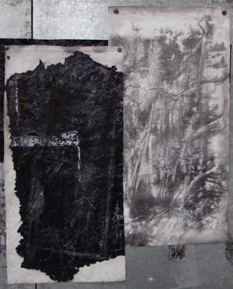 Two Fields 两个视界, 2012, 71½ × 56½ inches (182 × 143.5 cm)