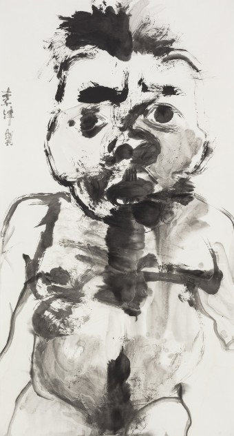 Li Jin, Ink Hermit, 2014, Ink and color on paper, 180 x 98 cm.