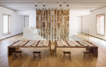 Tao Aimin, Washed Relics No. 2, Installation, 2014, The Secret Language of Women, 2008. Exhibition View at Ink Studio.