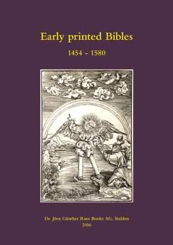 Early Printed Bibles 1454-1580, Catalogue No. 12