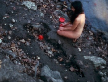 Ana Mendieta, 'Corazón de Roca con Sangre', 1975, super-8mm film transferred to high-definition digital media, color, silent, 3:14 minutes. © The Estate of Ana Mendieta Collection, LLC. Courtesy Galerie Lelong & Co.