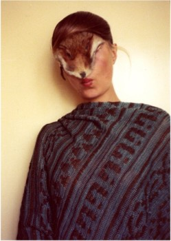 Birgit Jürgenssen 'Untitled (Self with Little Fur)', 1974-77. Vintage colour photograph