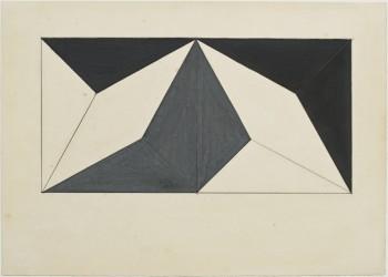Lygia Clark, Planos em superfície modulada, 1957 Gouache, graphite, cardboard.