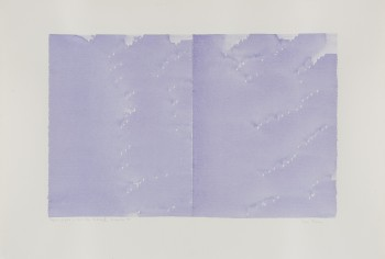 Irma Blank, Radical Writings, Doppia pagina, dal libro totale, IV, 1985 Watercolour on paper.