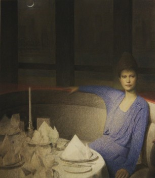 Graham Little, 'Candle Lady', 2010. Coloured pencil and gouache on paper.
