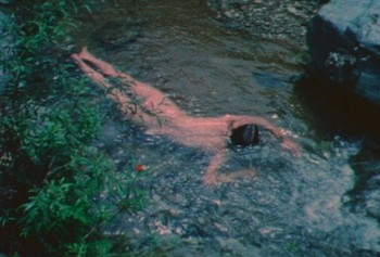 Untitled (Creek #2), San Felipe, Mexico, 1974, Super-8 colour, silent film, 3 minutes, 30 seconds Courtesy The Estate of Ana Mendieta Collection, Galerie Lelong, New York © The Estate of Ana Mendieta Collection, LLC