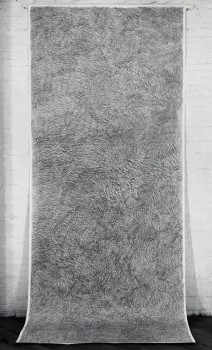"Michelle Stuart, ""#5 Moray Hill, NY,"" 1973, Graphite on muslin-backed rag paper © Michelle Stuart, Courtesy Parrish Art Museum"