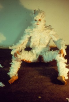 Ana Mendieta, Feathers on a Woman, University of Iowa, 1972. © The Estate of Ana Mendieta Collection, LLC