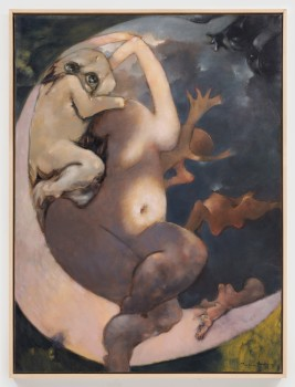 Dorothea Tanning, Murmurs, 1976. Oil on canvas. 130 x 97 cm, 51 1/8 x 38 1/4 in. © Artists Rights Society, New York, and ADAGP, Paris