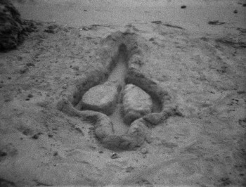 Film Still: Ana Mendieta, Untitled, 1981. Super-8mm film transferred to high-definition digital media, black and white, silent. Running time: 02:54 minutes. © The Estate of Ana Mendieta Collection, LLC