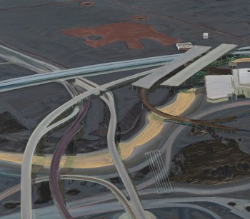 Carol Rhodes, River, Roads, 2013. © Carol Rhodes Estate