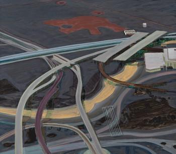 Carol Rhodes, 'River, Roads', 2013, oil on board, 49.9 x 57 cm (19 5/8 x 22 1/2 in). Courtesy: Alison Jacques, London © Carol Rhodes Estate