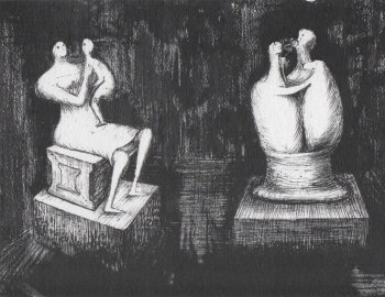 Henry Moore - lithographs and maquettes
