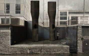The retrospective view of the pathway, 2016. Artist impression, courtesy of Witherford Watson Mann architects.