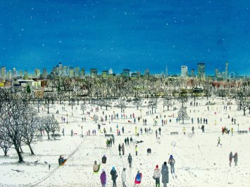 "<span class=""artist""><strong>Emma Haworth</strong></span>, <span class=""title""><em>Primrose Hill Snow</em>, 2013</span>"