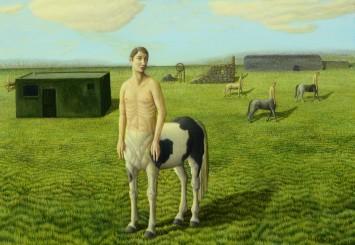 """<span class=""""artist""""><strong>Helen Flockhart</strong></span>, <span class=""""title""""><em>Piebald Centaur</em>, 2014</span>"""